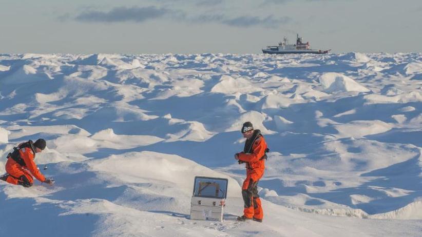 Ein Jahr im Packeis: Forschungsschiff friert in der Arktis ein