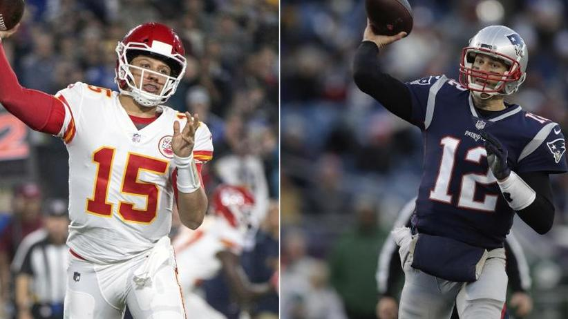 Generationen-Duell: NFL-Halbfinale: Youngster Mahomes fordert Altmeister Brady