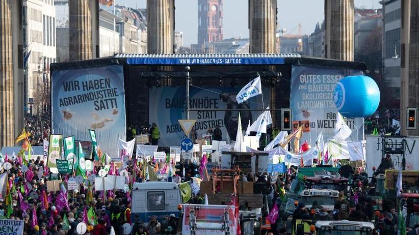 Nachhaltige Landwirtschaft: Zehntausende demonstrieren in Berlin für eine Agrarwende
