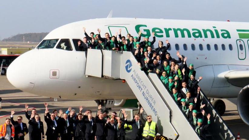 Insolvente Fluglinie: Germania-Pleite:Insolvenzverwalter spricht mit Investoren