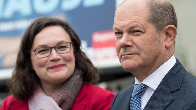 Kampf gegen SPD-Umfragetief: Scholz unterstützt Nahles' Plan für Sozialstaatsreform