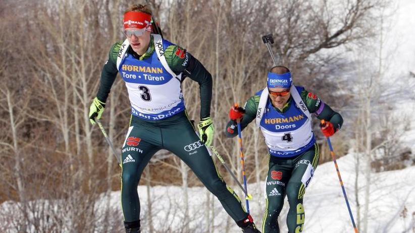 Biathlon-Weltcup: Deutsche Single-Mixed-Staffel auf dem vierten Platz