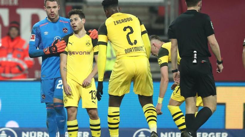 """Remis in Nürnberg: """"Das ist zu wenig"""": Dortmunder Nervenspiel im Titelrennen"""