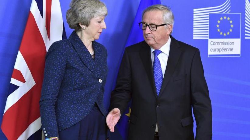 May in Brüssel: Brexit-Gespräche: Juncker bremst Erwartungen