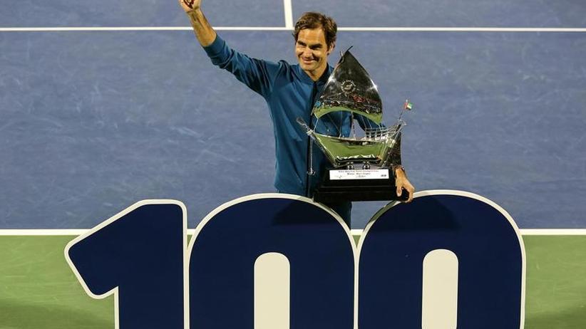 Tennis-Superstar: 100. Titel: Federer feiert Jubiläum in Dubai