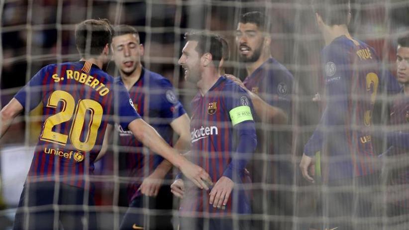 Champions League: FC Barcelona kombiniert sich gegen Lyon ins Viertelfinale