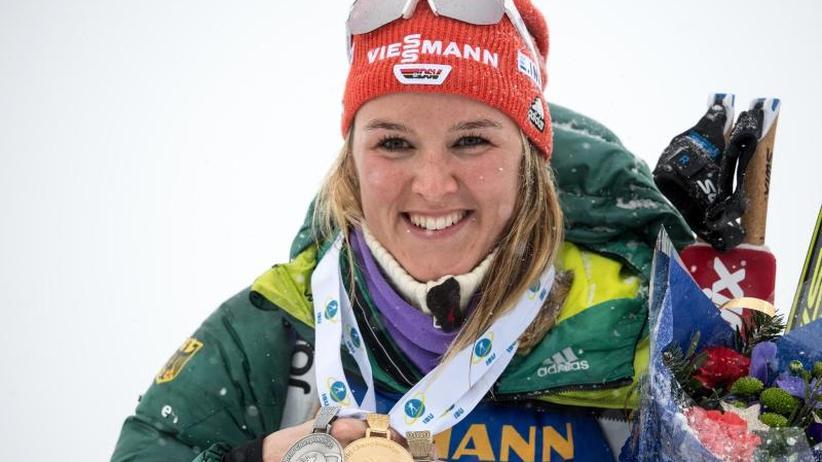 "Biathlon in Östersund: Herrmann feiert dritte WM-Medaille - ""richtig stolz"""