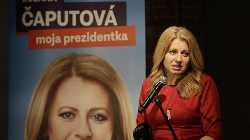 Zuzana Caputova: Slowakei: Liberale gewinnt erste Runde der Präsidentenwahl