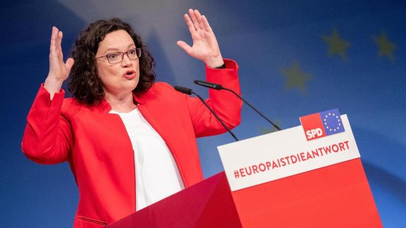 SPD-Europakonvent in Berlin: SPD-Chefin Nahles ruft zu Engagement für Europa auf
