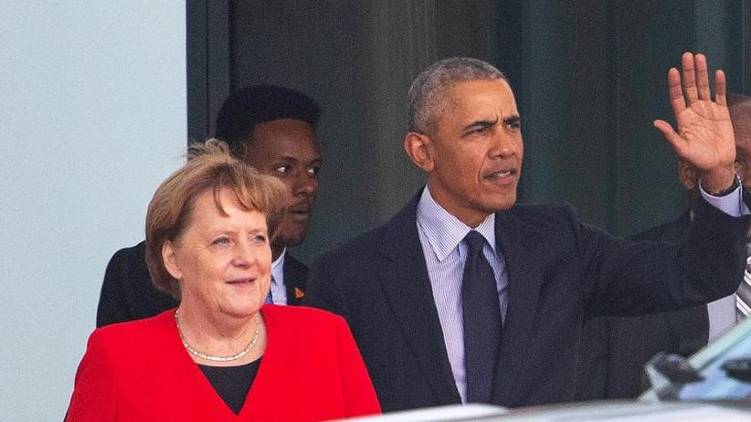Ex-Präsident in Köln gefeiert: Barack Obama von Merkel im Kanzleramt empfangen