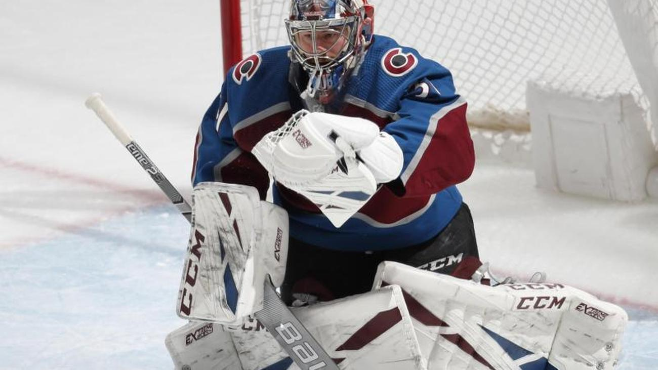 Nhl Strong Hockey Goalie Grubauer At Colorado Victory