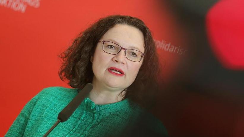 """Bericht der """"WamS"""": SPD: Pläne für Aufstand gegen Nahles bei Wahlpleiten?"""