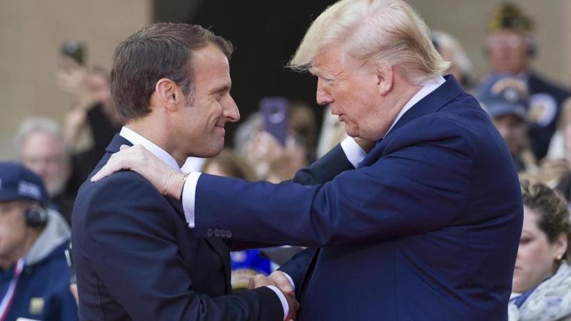 Diplomatie über Gräbern: Trump und Macron am D-Day in der Normandie