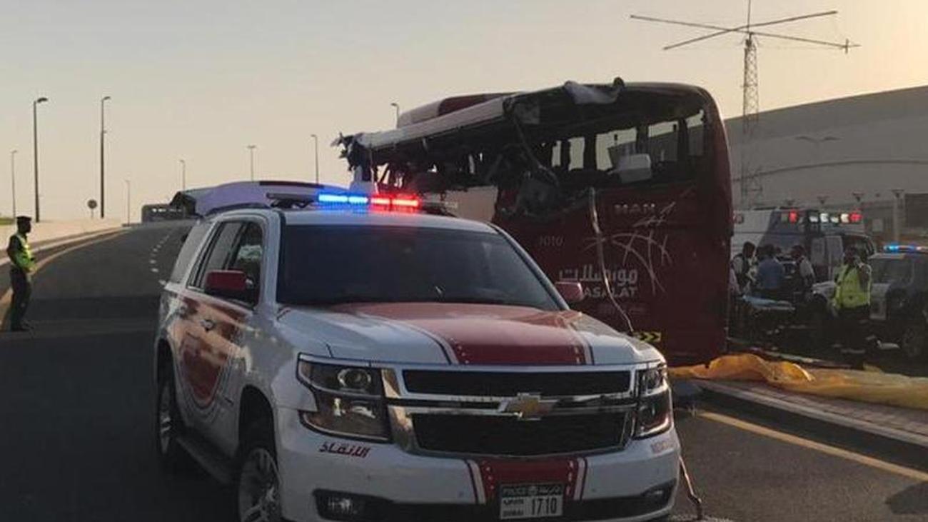 A German injured: 17 passengers die in bus accident in Dubai