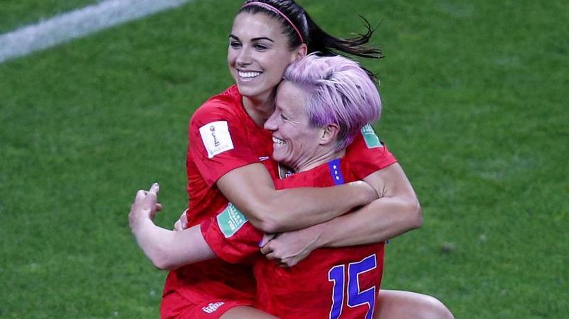 Fußball-WM der Frauen: US-Frauen starten mit Rekordsieg - Fünf Morgan-Tore