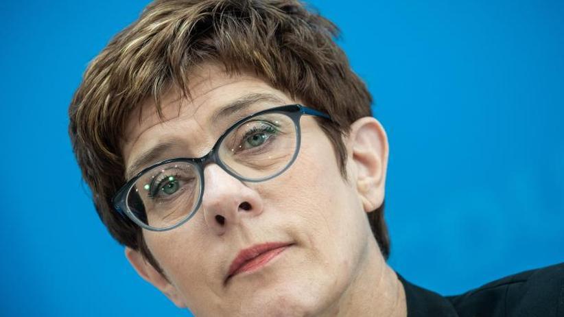 Abgrenzung nach rechts: Kramp-Karrenbauer schließt Zusammenarbeit mit AfD aus