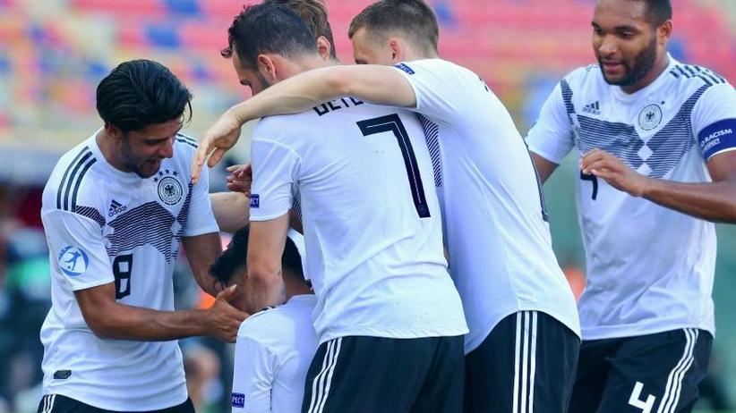 Sieg über Rumänien: Deutschlands U21-Fußballer im EM-Finale