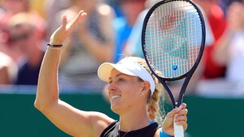 WTA-Turnier: Kerber mit überzeugendem Sieg ins Halbfinale von Eastbourne