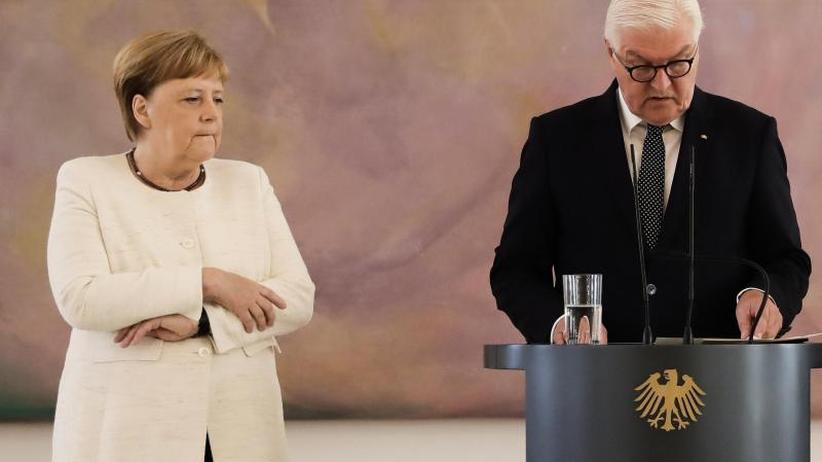 Im Schloss Bellevue: Merkel hat erneut Zitteranfall