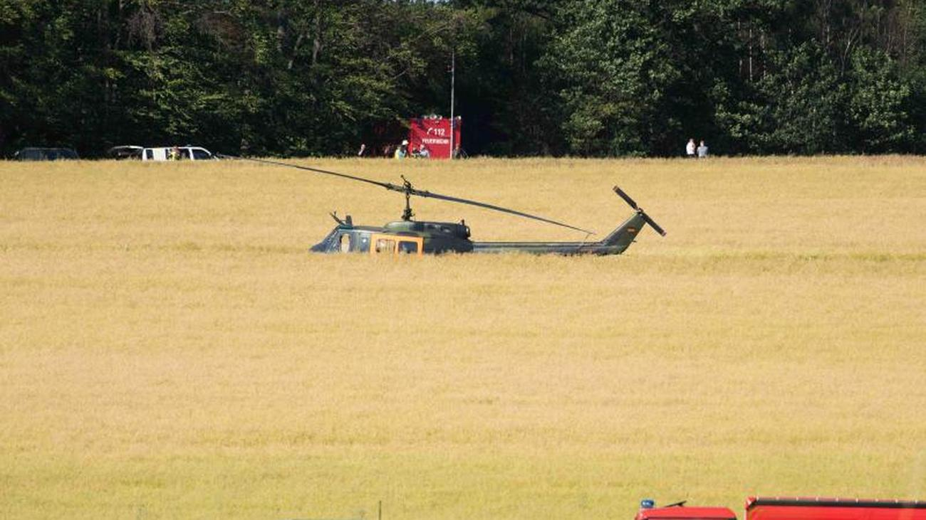 Bad luck in Lower Saxony: training helicopter of the