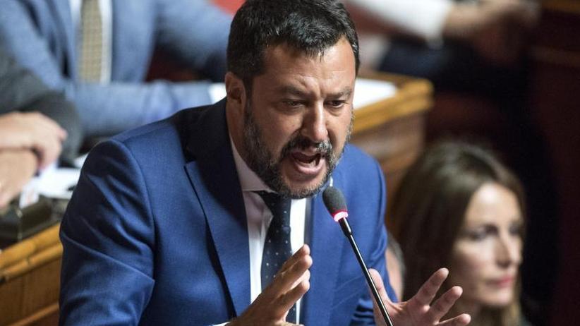 Politische Krise in Italien: Salvini will weiterhin Misstrauensvotum gegen Regierungschef