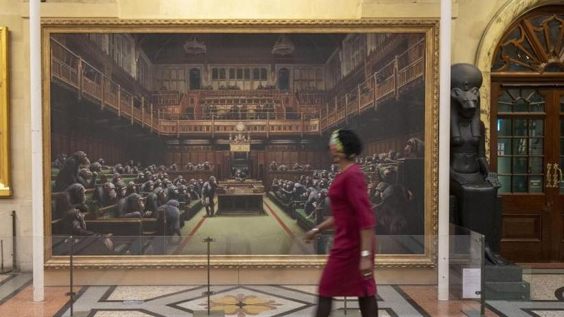 Riesiges Banksy-Gemälde soll versteigert werden