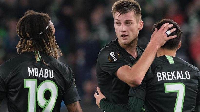 """Europa League: Wolfsburg rettet Bundesliga-Bilanz: """"Keine einfachen Spiele"""""""