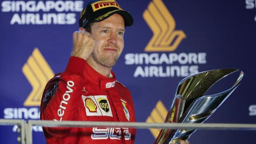 Formel 1: Vettel erlöst: Triumph in der Glücksnacht von Singapur