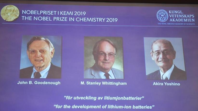Grundlage für Energiewende: Chemie-Nobelpreis für die Väter der Lithium-Ionen-Batterie