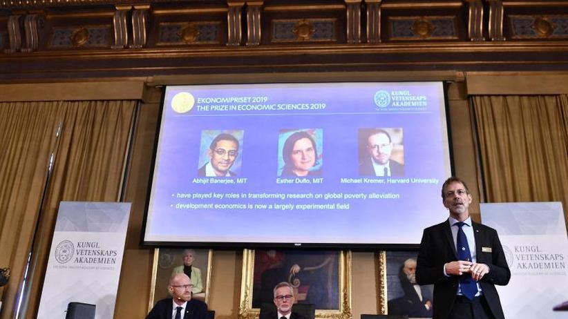 Stockholm: Wirtschaftsnobelpreis für Armutsforscher