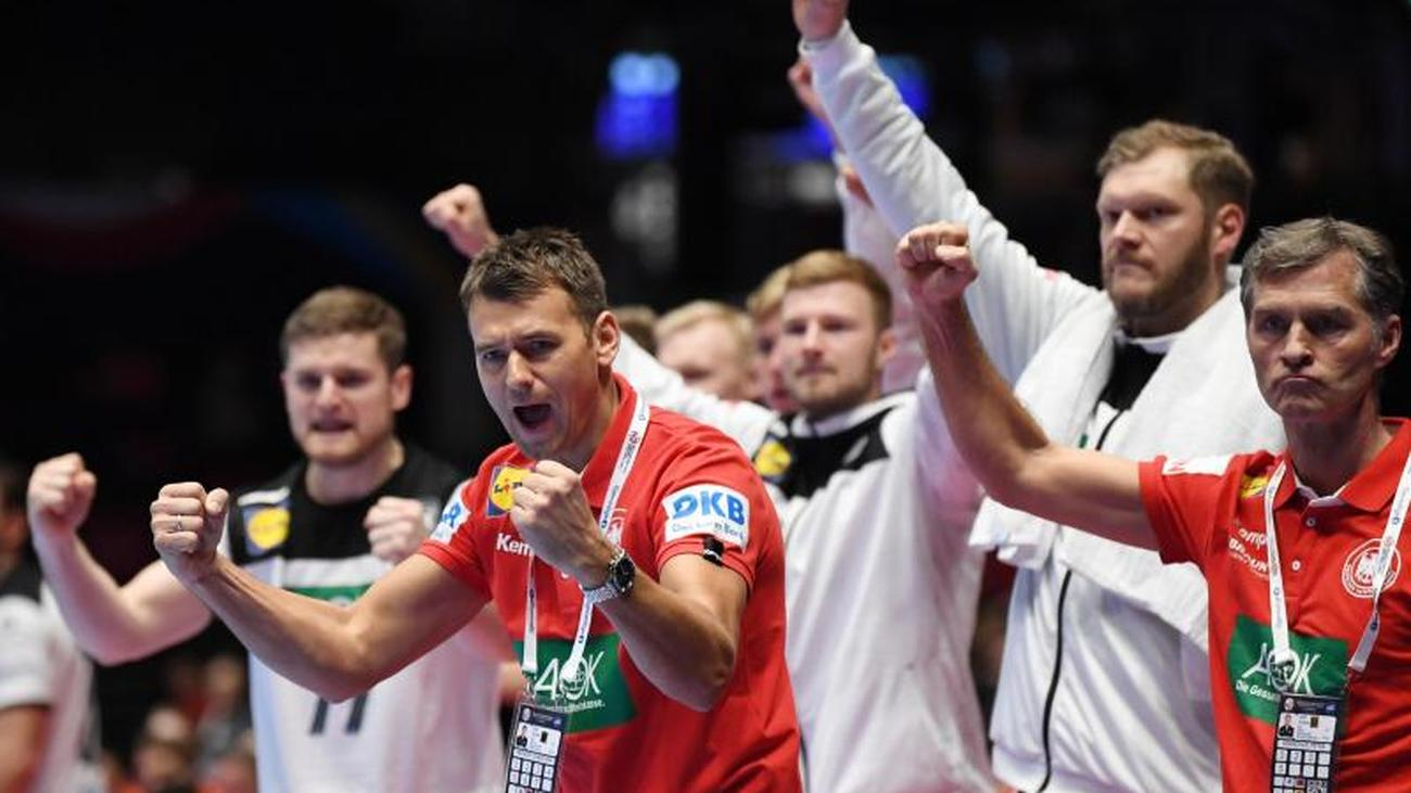 Victory Against The Netherlands German Handball Players