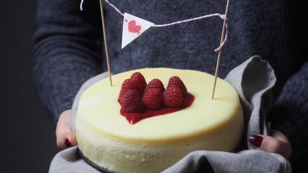 Liebe geht durch den Magen: Kleiner New York Cheesecake zum Verlieben