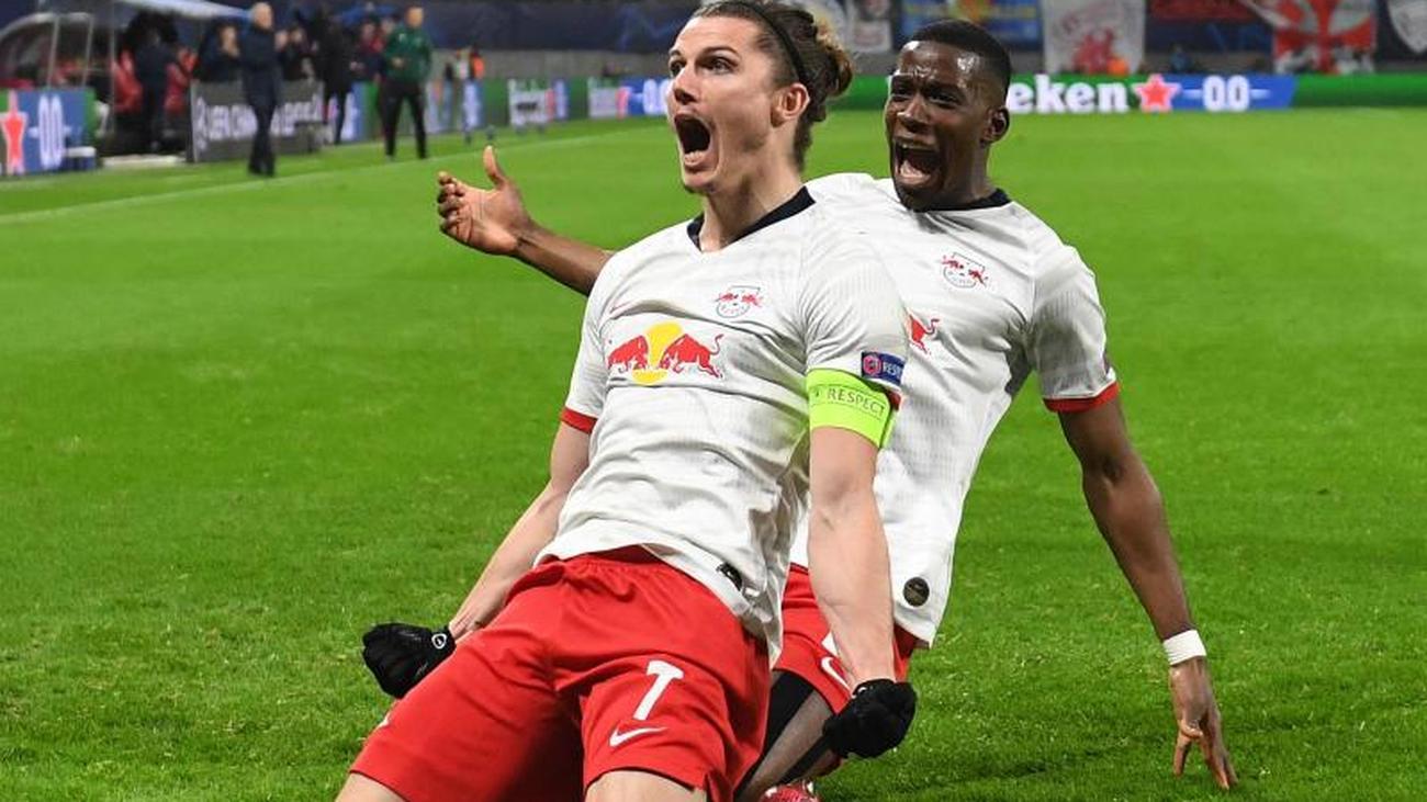 Champions League Rb Leipzig Celebrates Double Sabitzer Teller Report