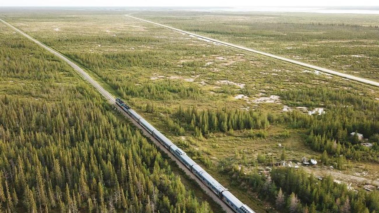 Per Zug in Kanadas Norden: Die Welt auf der Strecke lassen
