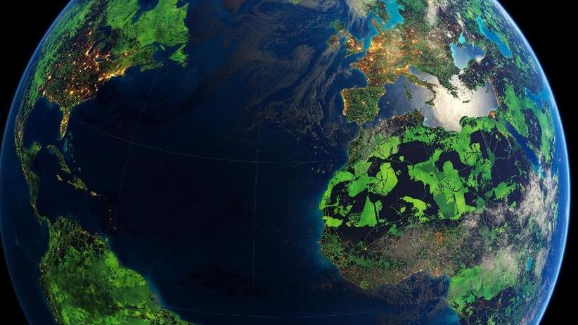 Landmasse Der Erde