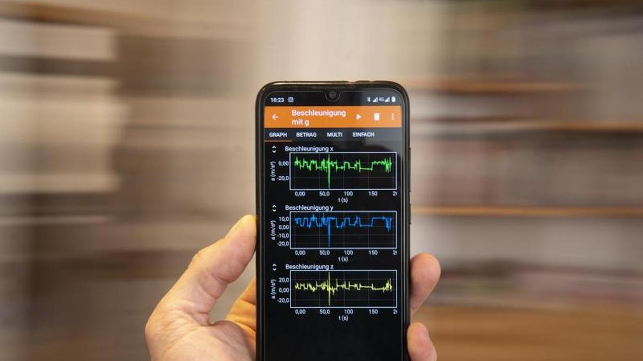 Messdaten-App:Experimente mit den Smartphone-Sensoren