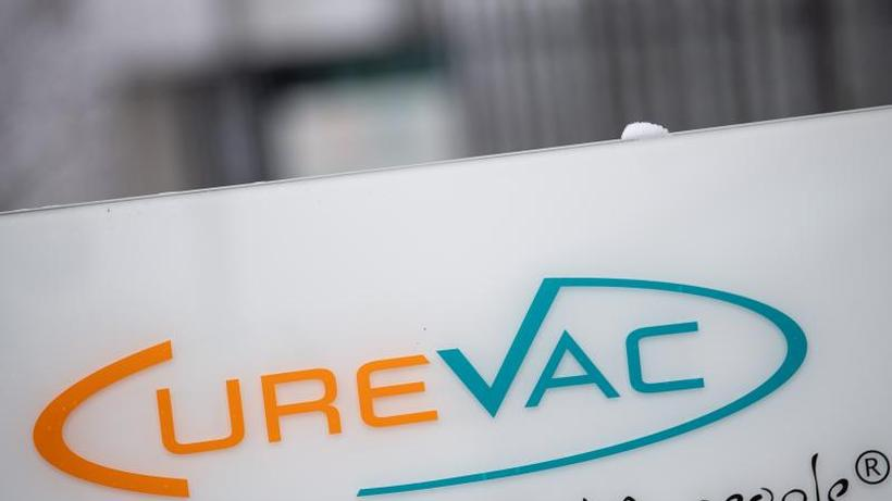 Wissenschaft: Das Logo des Biotech-Unternehmen Curevac.