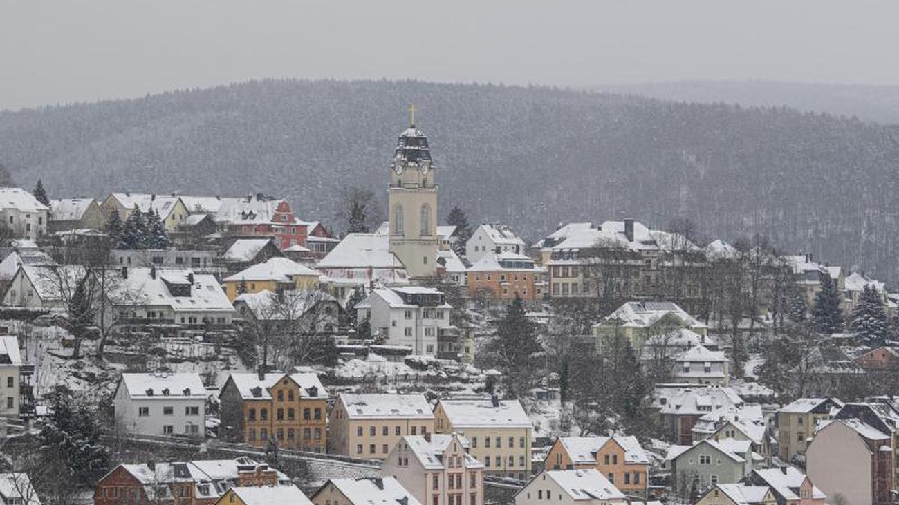 Schnee und Dauerfrost in Sachsen auch in den Städten