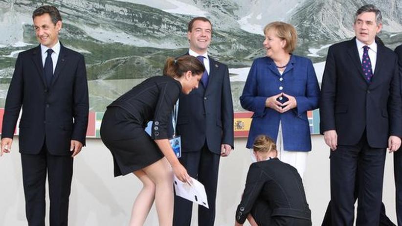 Sarkozy Medwedjew  Merkel Brown