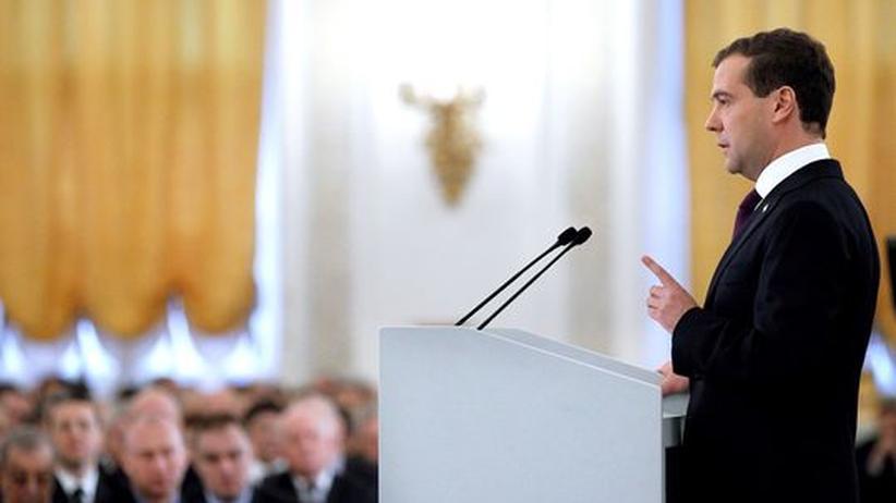 Russland: Medwedjew warnt vor neuem Wettrüsten