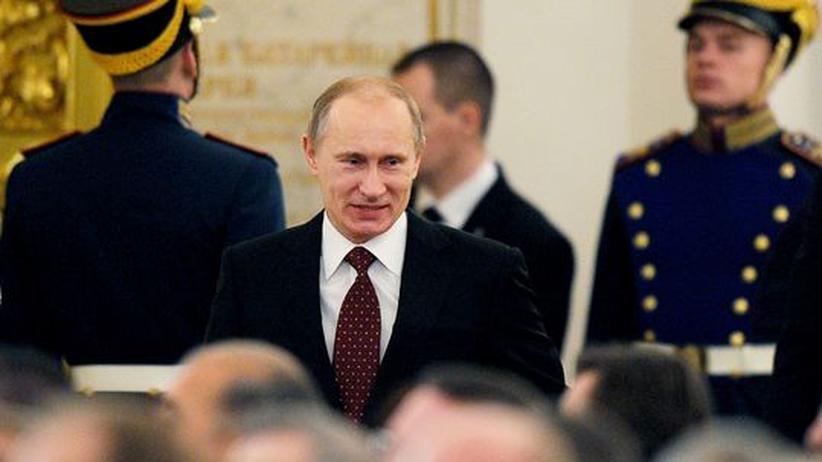 Wikileaks: Russlands Premierminister Wladimir Putin vor einer Rede im Kreml