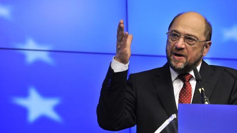 Martin Schulz, Präsident des Europaparlaments, in Brüssel