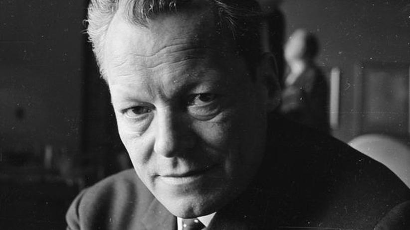 Willy Brandt und Bruno Kreisky: Willy Brandt im April 1965