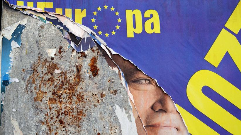 Europawahl 2014: Ein Wahlplakat in Rom