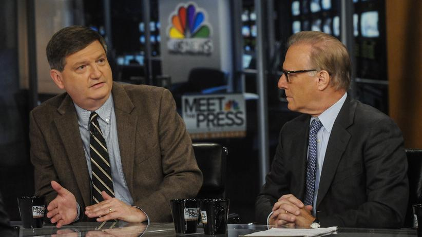 Gefälschte Iranpläne: James Risen (l.) bei einem Fernsehauftritt am 16. Juni 2013