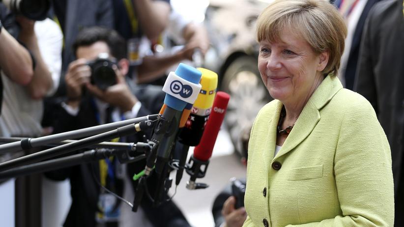 Ukraine-Konflikt: Bundeskanzlerin Angela Merkel beantwortet Fragen vor dem EU-Gipfeltreffen in Brüssel.
