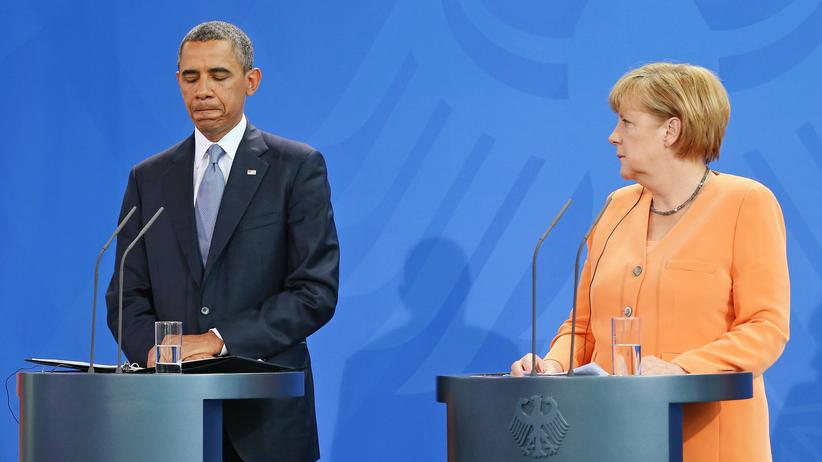 Spionage-Affäre: BERLIN, GERMANY - JUNE 19: In this file photo German Chancellor Angela Merkel and U.S. President Barack Obama speak at a press conference on June 19, 2013 in Berlin, Germany.