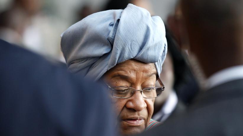 Liberias Präsidentin Ellen Johnson Sirleaf bei einer Ansprache vor der UN-Vollversammlung in New York