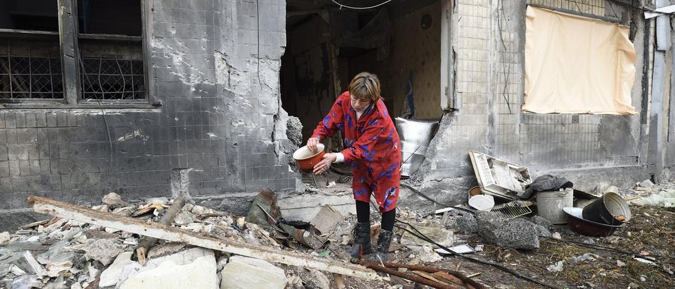 Kriegsfolgen im ostukrainischen Donezk