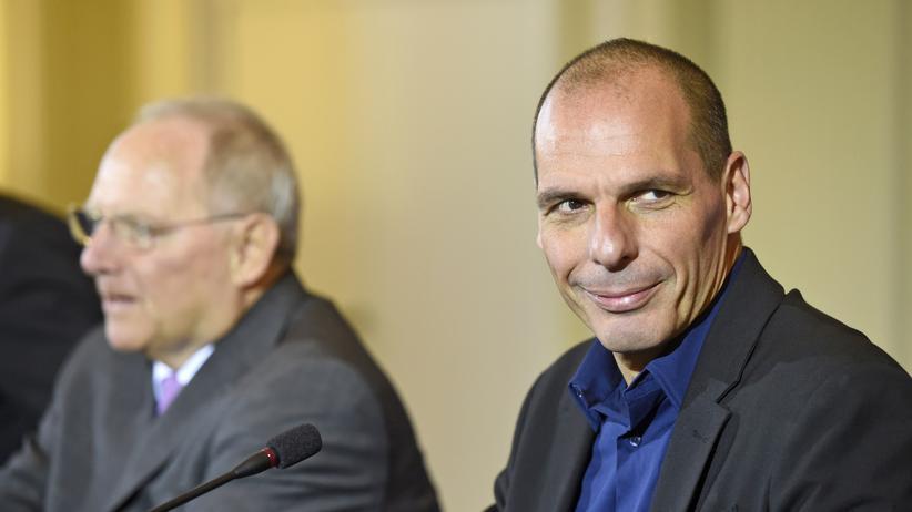 Griechenland-Hilfe: Wolfgang Schäuble und Yanis Varoufakis bei einer Pressekonferenz am 5. Februar in Berlin